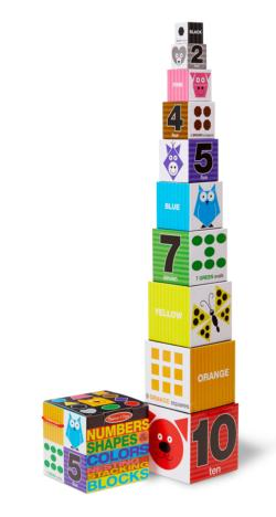 Nesting Blocks - Numbers, Shapes, Colors Toy