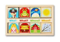 Wooden Story Blocks Educational Toy