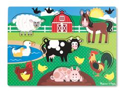 Farm Peg Puzzle Farm Animals Peg Puzzle