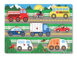 Vehicles Peg Puzzle Vehicles Children's Puzzles