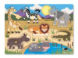 Safari Jungle Animals Chunky / Peg Puzzle