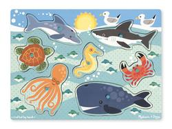 Sea Creatures Peg Puzzle Under The Sea Children's Puzzles