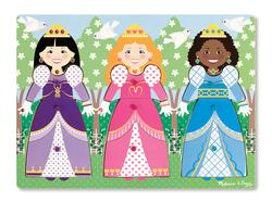 Dress-Up Princesses Peg Puzzle Princess Jumbo / Chunky / Peg Puzzle