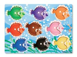 Colorful Fish Fish Jumbo / Chunky / Peg Puzzle