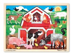 Barnyard Farm Animals Tray Puzzle