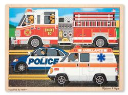 24pc Tray Puzzle - To The Rescue! Vehicles Children's Puzzles