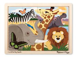 12pc Tray Puzzle - Safari Jungle Animals Children's Puzzles