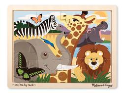 12pc Tray Puzzle - Safari Jungle Animals Children's Puzzles