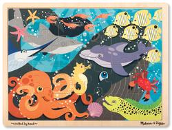 24pc Tray Puzzle - Under the Sea Marine Life Children's Puzzles