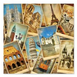 Postcards from Europe Travel Jigsaw Puzzle