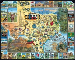 Best of Texas Maps Jigsaw Puzzle