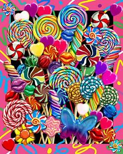 Lollipop Bouquet - Scratch and Dent Food and Drink Jigsaw Puzzle