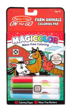 Magicolor Coloring Pad - Farm Animals Activity Book and Stickers
