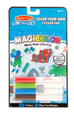 Magicolor Color-Your-Own Sticker Book - Blue Activity Book and Stickers