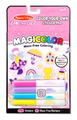 Magicolor Color-Your-Own Sticker Book - Pink Activity Book and Stickers