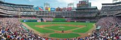 Texas Rangers Sports Panoramic Puzzle