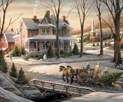 Homeward Bound Snow Jigsaw Puzzle
