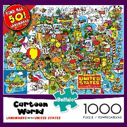 Landmarks of the United States  (Cartoon World) United States Jigsaw Puzzle