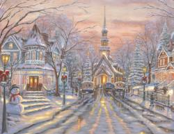 White Christmas Christmas Jigsaw Puzzle