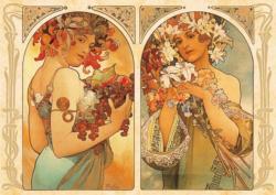 Fruite Flower Nostalgic / Retro Jigsaw Puzzle