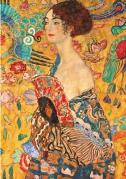 Lady With A Fan People Jigsaw Puzzle