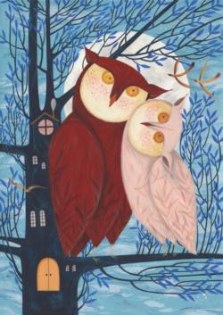 Owl Family Owl Jigsaw Puzzle