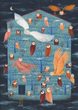 Owl Collage Owl Jigsaw Puzzle
