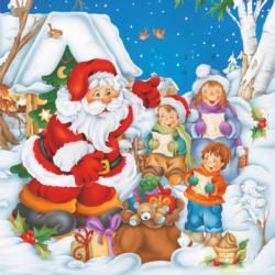 Santa Kids Cartoon Christmas Children's Puzzles