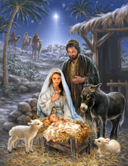 Savior is Born Religious Jigsaw Puzzle