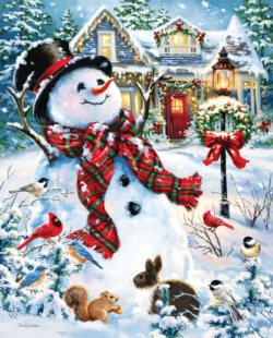 Old Fashioned Holiday Christmas Jigsaw Puzzle