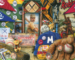 Vintage Baseball Nostalgic / Retro Jigsaw Puzzle