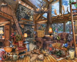 The Hunting Lodge Cottage / Cabin Jigsaw Puzzle