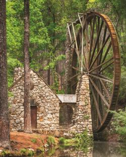 Water Wheel Countryside Jigsaw Puzzle