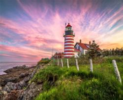West Quoddy Head Lighthouse Lighthouses Jigsaw Puzzle