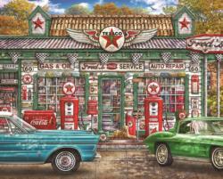 Fred's Service Station Nostalgic / Retro Jigsaw Puzzle