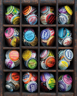 Colorful Caps Pattern / Assortment Large Piece