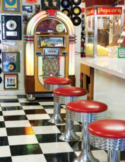 The Malt Shop Nostalgic / Retro Large Piece