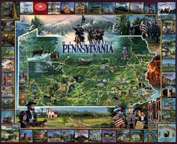 Historic Pennsylvania United States Jigsaw Puzzle