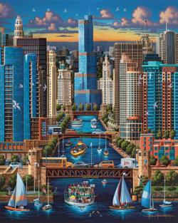 Chicago River Lakes / Rivers / Streams Jigsaw Puzzle