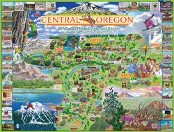 Central, Oregon - Bend, Sisters, Camp Sherman Lakes / Rivers / Streams Jigsaw Puzzle