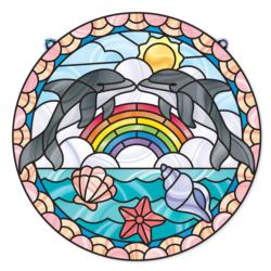 Stained Glass - Dolphins Arts and Crafts