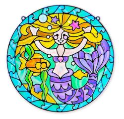 Stained Glass - Mermaid Arts and Crafts