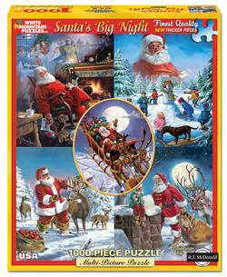 Santa's Big Night Collage Jigsaw Puzzle