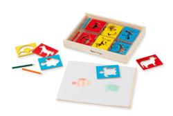 Wooden Stencil Box Toy
