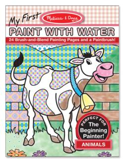 My First Paint with Water - Animals Activity Book and Stickers