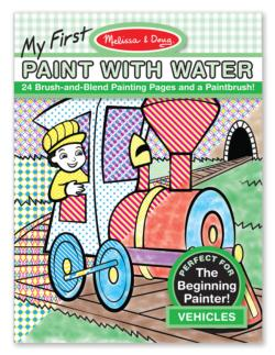 My First Paint with Water - Vehicles Activity Book and Stickers