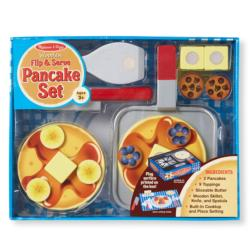 Wooden Flip & Serve Pancake Set Pretend Play