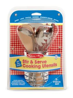 Let's Play House! Stir & Serve Cooking Utensils Pretend Play