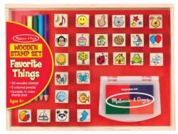 Wooden Favorite Things Stamp Set Arts and Crafts