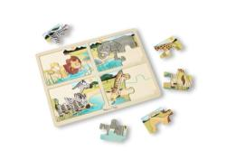 4-in-1 Tray Puzzle - Safari Zebras Children's Puzzles